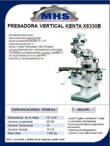 Fresadora convencional, marca kenta, modelo x6323b.