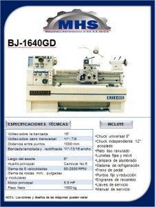 Torno Paralelo BJ-1640GD