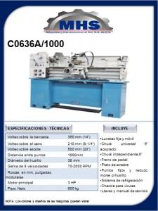 Torno Paralelo C0636A/1000