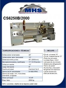 Torno Paralelo CS6250B/2000