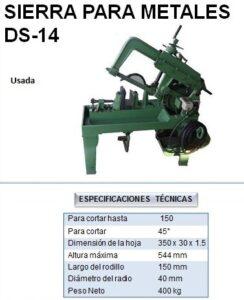 Sierra para metales DS-14