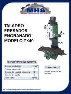 TALADRO  FRESADOR ZX40