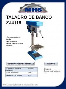 TALADRO DE BANCO ZJ4116