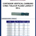 cortador vertical carburo 4 filos largo
